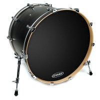 "EVANS BD22RA - 22"" Genera EQ1 Resonant перед. пласт. для бас барабана однослойн.черн.с демп.кольцом"