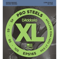 D'Addario EPS165 - струны для БАС-гитары, ProSteels/Long, 45-105