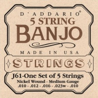 D'Addario J61 - струны для банджо, 5 String and Tenor Banjo/Medium/Nickel