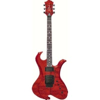 B.C.Rich NTWAGTR  электрогитара Neck Thru Wave Floyd Rose, Trans Red