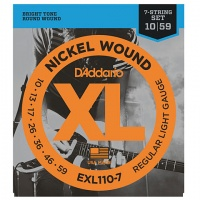 D'Addario EXL110-7 - струны для 7-струнной электрогитары, Regular Light, никель, 10-59