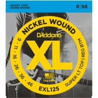 D'Addario EXL125 - струны для  электрогитары, Super Light/Regular, никель, 9-46